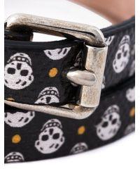 Alexander McQueen - Black Double Wrap Skull Bracelet for Men - Lyst
