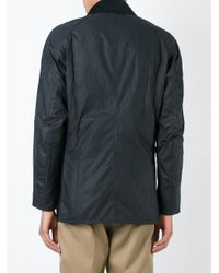 Barbour   Black Waxed Effect Buttoned Jacket for Men   Lyst