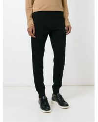 6397 - Black Knitted Sweat Pants - Lyst