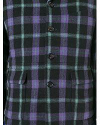 Comme des Garçons - Blue Multi Tartan Blazer for Men - Lyst
