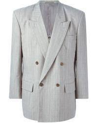 Comme des Garçons - Gray Double Breasted Blazer for Men - Lyst