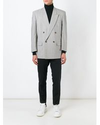Comme des Garçons - Gray Double Breasted Blazer for Men - Lyst