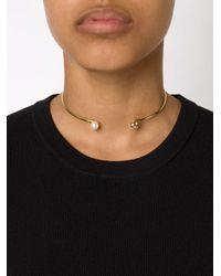 Nektar De Stagni | Metallic Pearl Detail Choker | Lyst