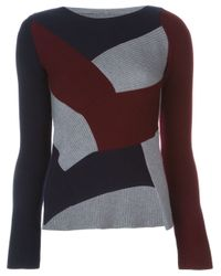 Maison Margiela - Gray Asymmetric Patchwork Sweater - Lyst