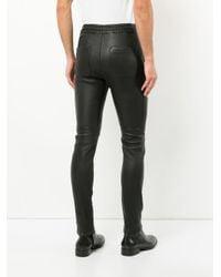 Balmain - Black Biker Elasticated Waist Trousers for Men - Lyst