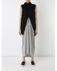 Rick Owens Lilies - Black - Wrap Vest - Women - Viscose/angora/wool/polyimide - 46 - Lyst