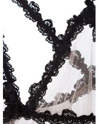 Fleur du Mal - Black Lace Bondage Babydoll - Lyst