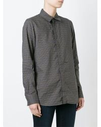DSquared² - Gray Checked Shirt - Lyst