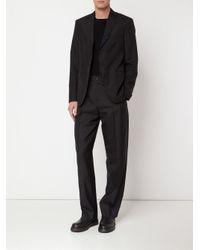 Yang Li - Black - Contrasting Trim Blazer - Men - Silk/cotton/mohair - 48 for Men - Lyst