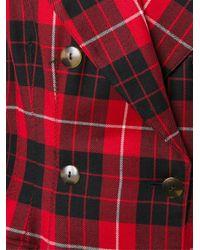 Jean Paul Gaultier - Red Tartan Wool Jacket  - Lyst