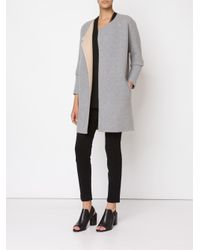 Theory - Gray Double Face Knit Coat - Lyst