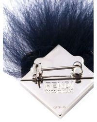 Fendi - Blue Crystal Bugs Brooch - Lyst