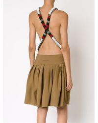 Jean Paul Gaultier - Brown Beaded Apron Dress - Lyst