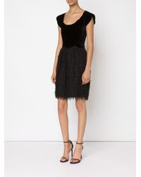 Jean Paul Gaultier - Black Velvet Top Combo Dress - Lyst