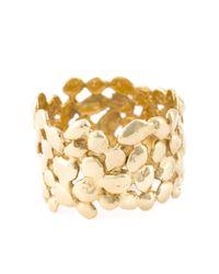 Natasha Collis - Metallic 18kt Yellow Gold Cobbled Ring - Lyst