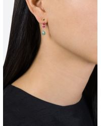 Natasha Collis - Multicolor Emerald And Pink Spinal Drop Earrings - Lyst