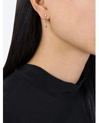 Natasha Collis - Metallic Sapphire Bead Drop Earrings - Lyst