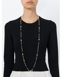Tory Burch - Metallic Pearl And Logo Necklace - Lyst