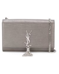 Saint Laurent - Gray Medium 'classic Monogram' Satchel - Lyst