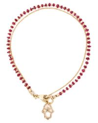 Astley Clarke | Metallic 'hamsa Fine Biography' Ruby And Diamond Bracelet | Lyst