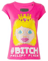 Philipp Plein | Pink 'the Princess' T-shirt | Lyst