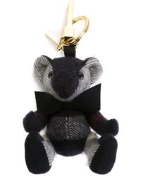 Burberry - Blue Teddy Bag Charm - Lyst
