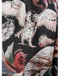 Valentino - Black 'fantastic Animals' Playsuit - Lyst