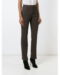 Dolce & Gabbana - Brown Straight Leg Trousers - Lyst