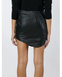 Jay Ahr | Black - Python Print Asymmetric Hem Skirt - Women - Leather/polyester - 36 | Lyst