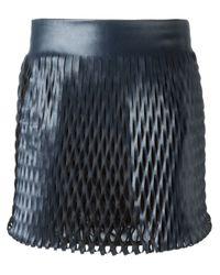 Jay Ahr | Blue Cut-out Detail Mini Skirt | Lyst