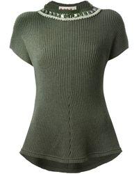 Marni | Green Short Sleeve Sweater | Lyst