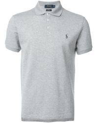 Polo Ralph Lauren | Gray Logo Polo Shirt for Men | Lyst