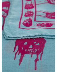 Alexander McQueen - Blue Drip Skull Scarf - Lyst