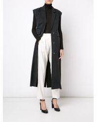 MM6 by Maison Martin Margiela - White High Waisted Trousers - Lyst