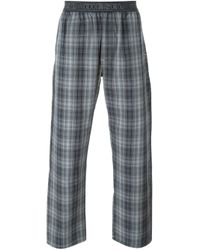 DIESEL | Gray Check Print Pyjama Trousers for Men | Lyst