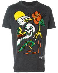DIESEL | Gray Print T-shirt for Men | Lyst