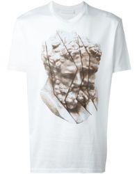 Neil Barrett | White Statue Print T-shirt for Men | Lyst