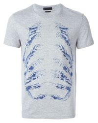 Alexander McQueen | Gray Wave Motif T-shirt for Men | Lyst