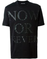 Neil Barrett | Black Now Or Never Print T-shirt for Men | Lyst