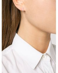 Dana Rebecca - Metallic 'drd' Hoop Earrings - Lyst