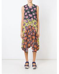 Marni | Black Asticon Print Asymmetric Dress | Lyst