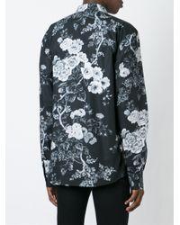 Dolce & Gabbana - Black Floral Print Shirt for Men - Lyst