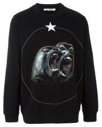 Givenchy - Black Baboon Print Sweatshirt - Lyst