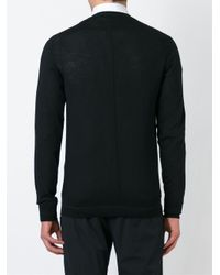 Givenchy - Black V-neck Cardigan for Men - Lyst