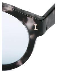 Illesteva | Black Round Frame Sunglasses | Lyst