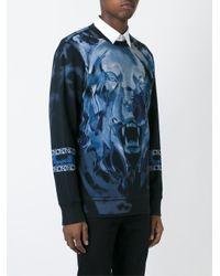 DIESEL - Black Fierce Print Sweatshirt for Men - Lyst