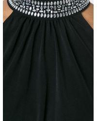 MICHAEL Michael Kors - Black Embellished Halterneck Collar Dress - Lyst