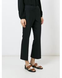 MICHAEL Michael Kors - Black Flared Cropped Trousers - Lyst
