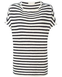 Tory Burch | White Short-sleeved Sweater | Lyst