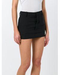 Vetements - Black Mini Skirt - Lyst